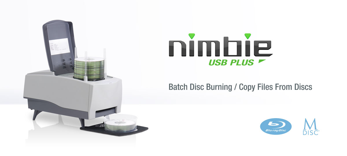Nimbie USB Plus NB21-MBR M-DISC Blu-ray/DVD Autoloader